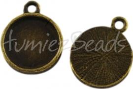 00785 Hanger cabochon setting Antiek brons (Nikkel vrij) 18mmx14mm; binnenzijde 12mm 1 stuks