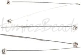 00789 Nietstift fancy Antiek zilver (Nickel vrij) 54mmx3mmx0,8mm 5 stuks