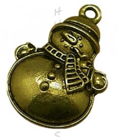 01070 Bedel sneeuwpop Antiek brons (Nikkel vrij) 25mmx17mm