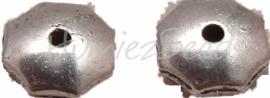 01627 Spacer 6 hoekig Antiek zilver (Nikkelvrij) 3,5mmx10mm 11 stuks