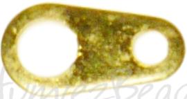 04138 Verbindingsstukje 2-gaats Goudkleurig (Nikkelvrij) 7mmx4mm~2mm; gat 1mm~3mm ±20 stuks