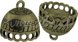 03280 Eindkap Antiek brons (nikkelvrij) 20,5mmx18,5mm; gat 17mm 1 stuks