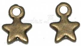 01347 Bedel ster Antiek brons (Nickel vrij) 10mmx8mm 11 stuks