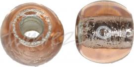 02692 Tsjechische glaskraal Roze 9mmx11,5mm; gat 4mm 5 stuks