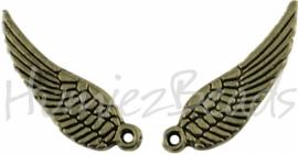 00753 Bedel vleugel Antiek brons (Nickel vrij) 16mmx5mm