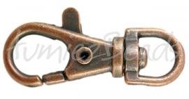 00999 Schlüsselanhänger Antikkupfer 35mmx13mm