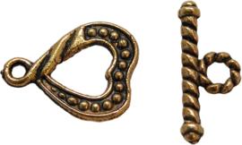 01740 Kapittelslot hart Antiek goud 15mmx13mm 6 stuks