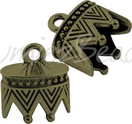 01520 Eindkap Antiek brons (Nikkelvrij) 22,5mmx20mmx16mm; gat 11,5mmx17,5mm 1 stuks