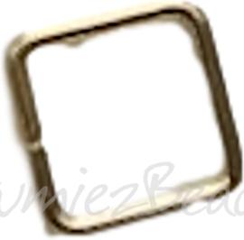 04121 Ringetjes Vierkant Goudkleurig (Nikkelvrij) 8mmx0,7mm ±35 stuks