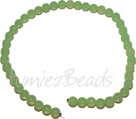 03459 Glaskraal streng (±40cm) imitatie jade Lime 10mm 1 streng