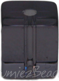 00940 Glaskraal vierkant Lila 6mm 1 streng (±30cm)