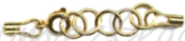 04097 Veerslotje met staaldraad-klemmetjes Goudkleurig (Nikkelvrij) 50mm 1 stuks