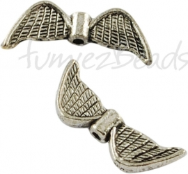 01189 Spacer vleugel Antiek zilver (Nikkelvrij) 1 stuks