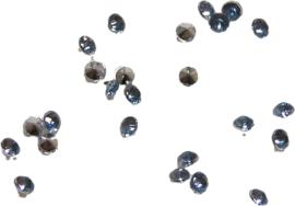 01464 Plaksteen Similisteen acryl Blauw 2mm 25 stuks