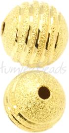 01309 Stardust kraal Goudkleurig 10mm; gat 2mm 4 stuks