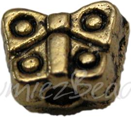 00643 Spacer kleine vlinder goud 12 stuks