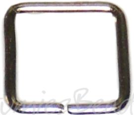 04123 Ringetjes Vierkant Metaalkleurig (Nikkelvrij) 6mmx0,7mm ±50 stuks