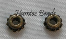 02890 Spacer puntjes Brons 5mmx3mm 30 stuks