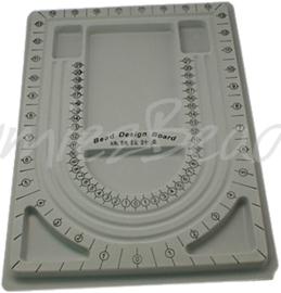 G-0014 Plastic design bord (kralenbord) Grijs 330mmx237mmx13mm 1 stuks
