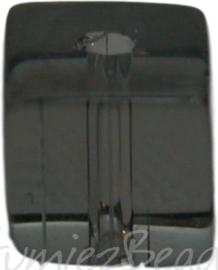 00943 Glaskraal vierkant Grijs 6mm 1 streng (±30cm)