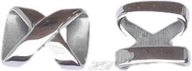 03895 Leerschuiver X Stainless steel Metaalkleurig 17x15x5mm; gat 12x3mm 1 stuks