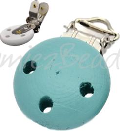 04051 Clip voor speenketting hout Licht blauw 1 stuks