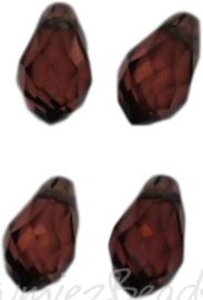 04340 Glaskraal druppel Smoked Topaz 4 stuks