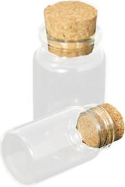 OP-0012 Glazen fles  Transparant 1 flesje