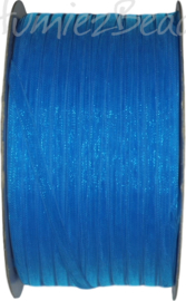 ORG-0301 Organzalint Blauw 3mm 50 meter