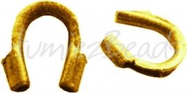 03699 Draadbeschermer Goudkleurig (Nikkel vrij) 5mmx4mm ±20 stuks