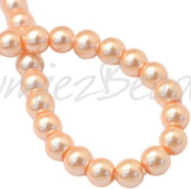04041 Glasparel LightSalmon 3-4mm; gat 0,5mm 1 streng ±30cm