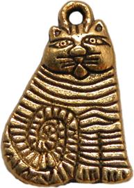 01798 Bedel lapjeskat Antiek goud (nikkelvrij) 20mmx13mm