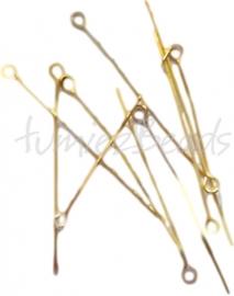 Mix-0001 Kettelstift Goudkleurig (Nickel vrij) 32mmx0,7mm ±2500 stuks