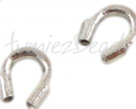 02949 Draadbeschermer (wire guardian) Metaalkleurig (Nikkel vrij) 5mmx4mm ±20 stuks