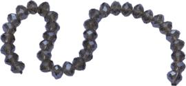 01429 Glaskraal imitatie swarovski faceted Abacus streng (±20cm) Bruin 7mmx10mm 1 streng