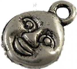 00228 Bedel Lachebekje Antiek zilver (Nikkel vrij) 11 stuks