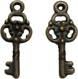 01712 Bedel sleutel Antiek brons (Nikkelvrij) 23mmx9mm