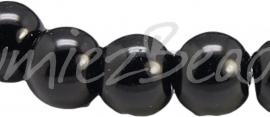 03916 Glasparel streng ±40cm Zwart 12mm 1 streng