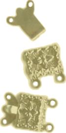 00650 Luxe slotje Goudkleurig (Nikkelvrij) 15mmx10mm 3 stuks