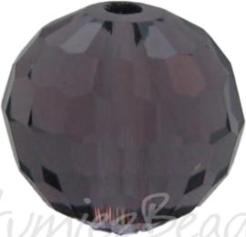 01088 Glaskraal Imitatie Swarovski 5000 round Lilac 10mm 4 stuks