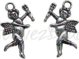 00339 Bedel engel Antiek zilver 24mm