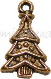 01667 Bedel kerstboom Antiek goud (nikkelvrij) 22mmx14mm