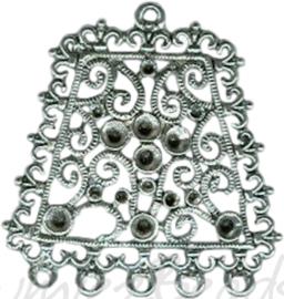 00108 Verdeler Square 1-5 gaats Antiek zilver (Nikkelvrij) 1 stuks
