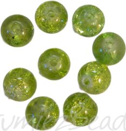 00708 Crackle kraal Groen 30 stuks