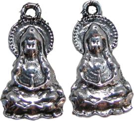 01710 Bedel Boeddha Antiek zilver 25mmx14mm