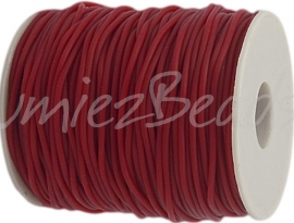 R-2002 Rubberkoord Rood 2mm; gat 1mm 1 meter