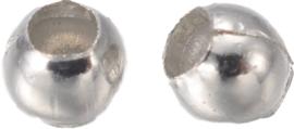 04466 Spacer Glad Metaalkleurig 2mm; gat 1mm ±400 stuks