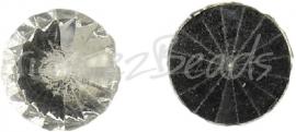 02638 Plaksteen Simili acryl Chrystal 11mm 7 stuks