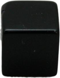 01844 Glaskraal kubus Zwart 8mm 1 streng (±30cm)