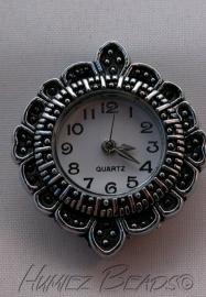 02513 Horloge Antiek zilver 30mmx26mm